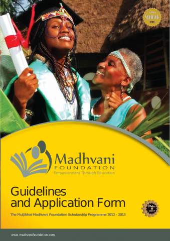 Application Form 2012 - 2013 Cover